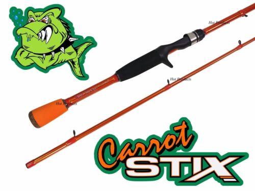 COLLAPSIBLE Carrot Stix CASTING 7/' MEDIUM Wild Orange Fishing Rod