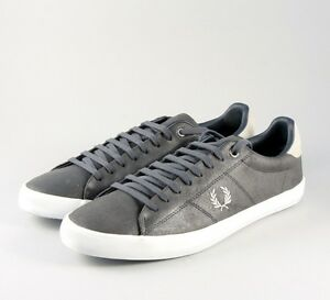 491 Leather Shoes Trainer Perry Men's Fred Howells B7508 Charcoal xaE06nvw