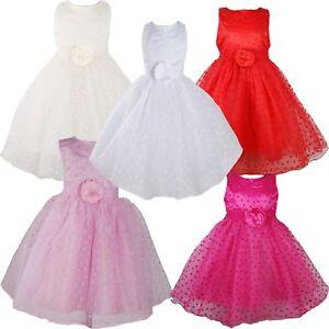 be08b550e Detalles de Vestido niña de fiesta vestido de niña con flores 9 12 18 24  Meses 2 3 4 5 años