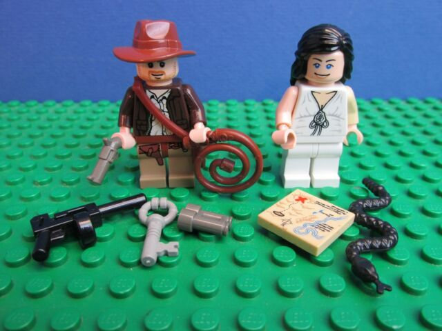 genuine LEGO INDIANA JONES minifigure MARION RAVENWOOD snake map whip set 96E LEGO Minifiguren