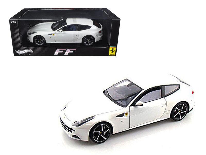 1   18 hot wheels ferrari ff v12 - elite - ausgabe ein diecast modell auto weiß w1119
