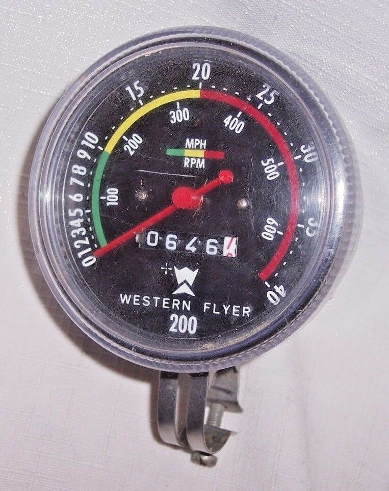 20    BICYCLE WESTERN FLYER 200 SPEEDOMETER TACHOMETER ODOMETER WESTERN AUTO.  wholesale store