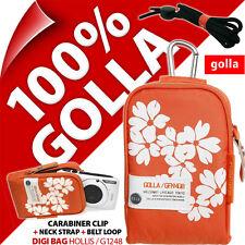 New Golla Universal Compact Digital Camera Case Bag Orange for Fuji Sony Samsung