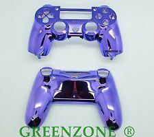 Purple Chrome Custom Replacement PS4 Controller Hydro Dipped Shell Mod Kit