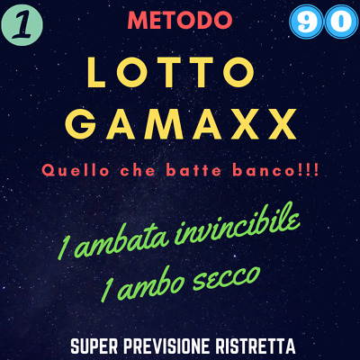 LOTTO metodo scommesse GAMAXX lotto