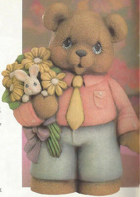 Ready to Paint Easter Girl Bear 9 Ceramic Bisque