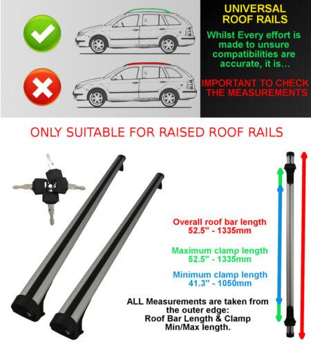 VAUXHALL UNIVERSAL ROOF BARS ROOF RAIL//RACK ESTATES SALOON OVAL