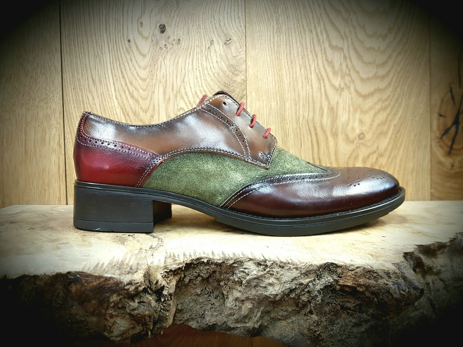 Luis Gonzalo // 4743M // Handmade Womens Three-tone Brogues Brogues Brogues Shoes // NEW dbe3bb
