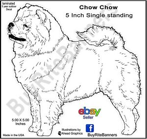 Chow-Chow-Decal-Stickers-Canine-5-Inch-Standing-Ahead-Graphics