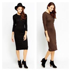 New-Womens-Ex-H-amp-M-Jumper-Ladies-Dress-Long-Sleeve-Knee-Long-Sweater-Top