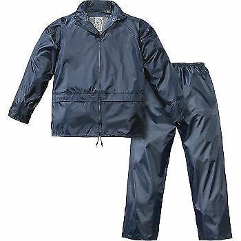 Tuta completo giacca e pantalone da lavoro impermeabile tg XL in pvc antipioggia
