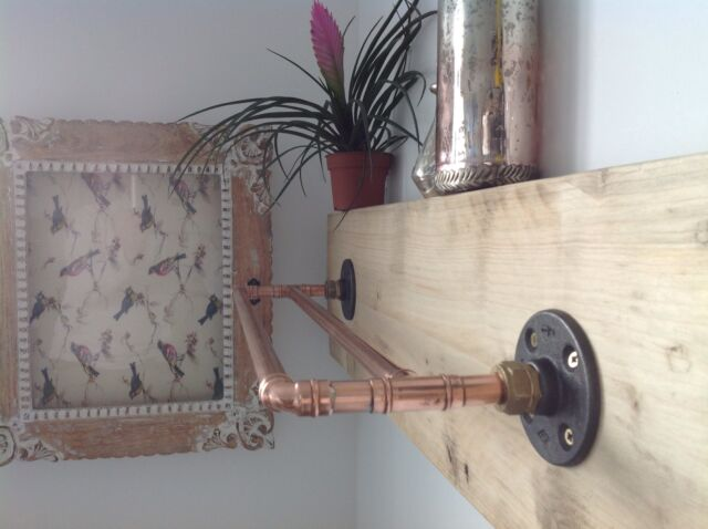 Copper Pipe Double Towel Rail  Handcrafted Industrial/Modern/Vintage