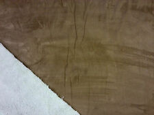 DOUBLESIDED SOFT SHEEP FAUX FUR & SUEDE FABRIC DRESS CRAFT THROW CREAM BROWN B10