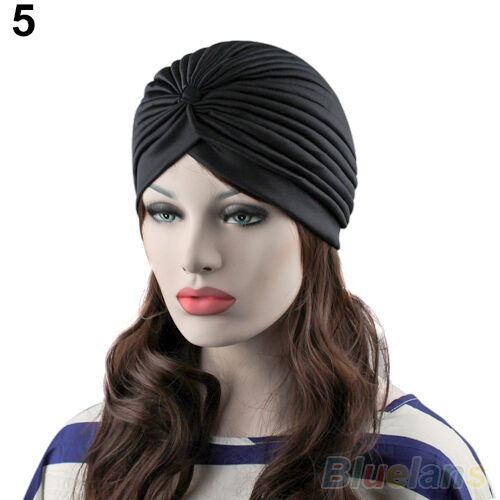 EG/_Admiring Unisex Indischer Stil dehnbar Turban Hut Haare Stirnband Kappe