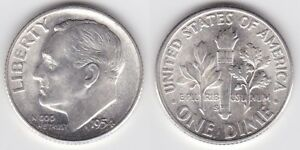1956 D Brilliant UNC Silver Roosevelt Dime Low shipping CP1606
