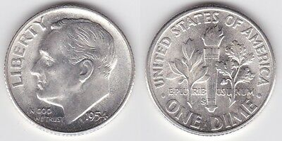 1955 Brilliant Proof Silver Roosevelt Dime Low shipping CP1590