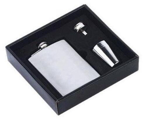 4 shots funnel HIP FLASK IN PRESENTATION GIFT BOX