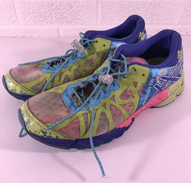 0e2076714430 ASICS Gel Noosa Tri 9 T458Q Marathon Running Shoes Women Size 8.5 Blue Green