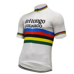 COLNAGO DEL TONGO Cycling Jersey Shirt Retro Bike Ropa Ciclismo MTB ... 4bd649c62