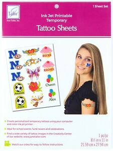June Tailor Tattoo Sheet Ink Jet Printable For Personalized Temporary Tattoos