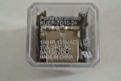 New Potter /& Brumfield KUEP-7D15-24 Relay 24 VDC 1//4HP