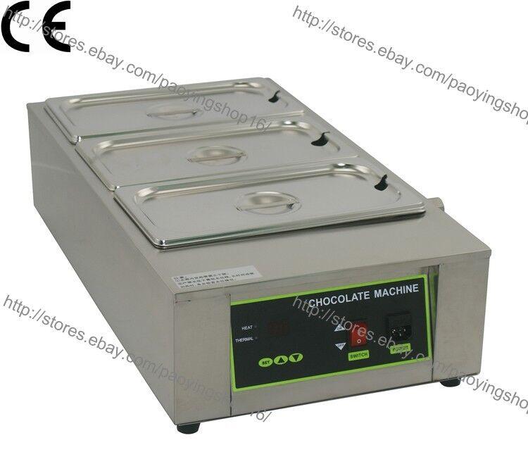 Acier Inoxydable 110 V 220 V Electric 12 kg chocolat fondeur temperer 3 Melting Pot