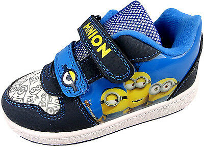 BOYS MINIONS DESPICABLE ME CHILDRENS SKATE TRAINER SHOES