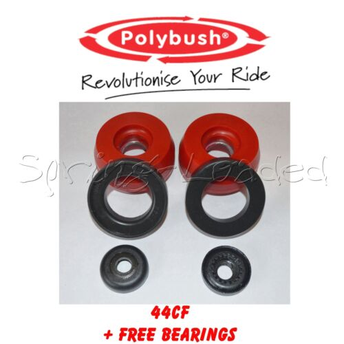 Polybush Front Strut Top Mounts 10mm Free B//Rs for Seat Leon Mk1 1.9TDi 99-05