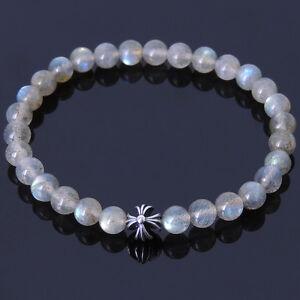 Men/'s Healing Gemstone Bracelet Garnet Labradorite Genuine S925 Sterling Silver