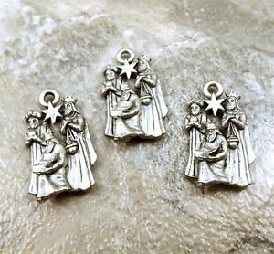 CHRISTMAS Charm Set of 3 Pewter Charms 3 WISE MEN 5259