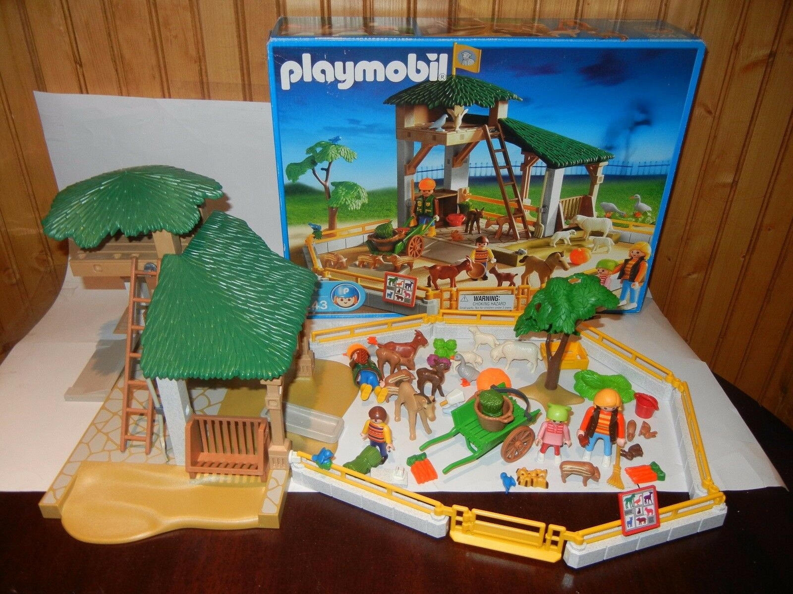marchi di moda PLAYMOBIL 3243 SMtutti ANIMAL ANIMAL ANIMAL PETTING ZOO FARM EXCELLENT MISSING 3 PIECES  vendite calde