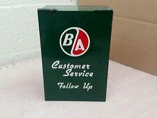 Vintage British American Oil b/a b-a ba Customer Service Box Oil Can Sign Gas