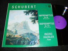 SCHUBERT Impromptus Stereo VOX LP INGRID HAEBLER 1968 Solo Piano Clsc Bell Sound