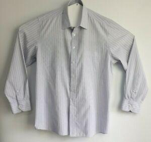 PELACO-Men-039-s-Classic-Fit-Business-Shirt-Long-Sleeved-Narrow-Stripes-Size-43