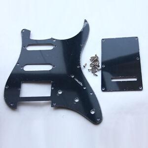 Gitarre-verdrehte-Rueckenplatte-Trem-Cover-fuer-Fender-Strat-Stratocaster-schwarz