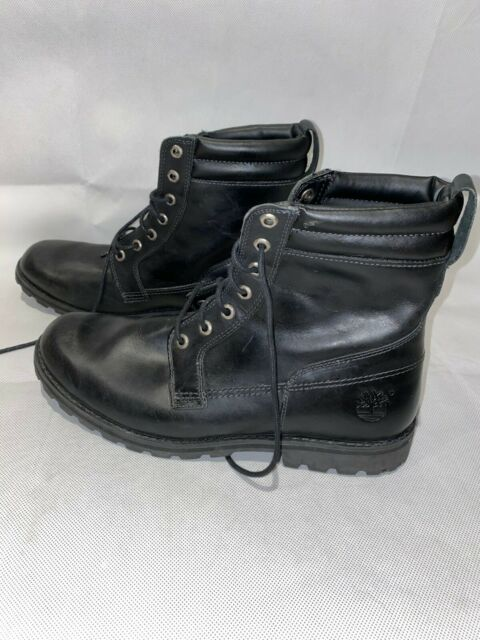 TIMBERLAND MEN´S EARTHKEEPERS LEATHER BOOTS BLACK SIZE 12 84584 7972