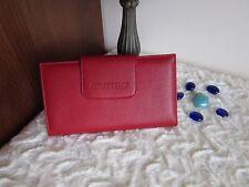 GEORGES RECH Cartera/billetera monedero piel rojo. Genuine Leather Wallet. New!