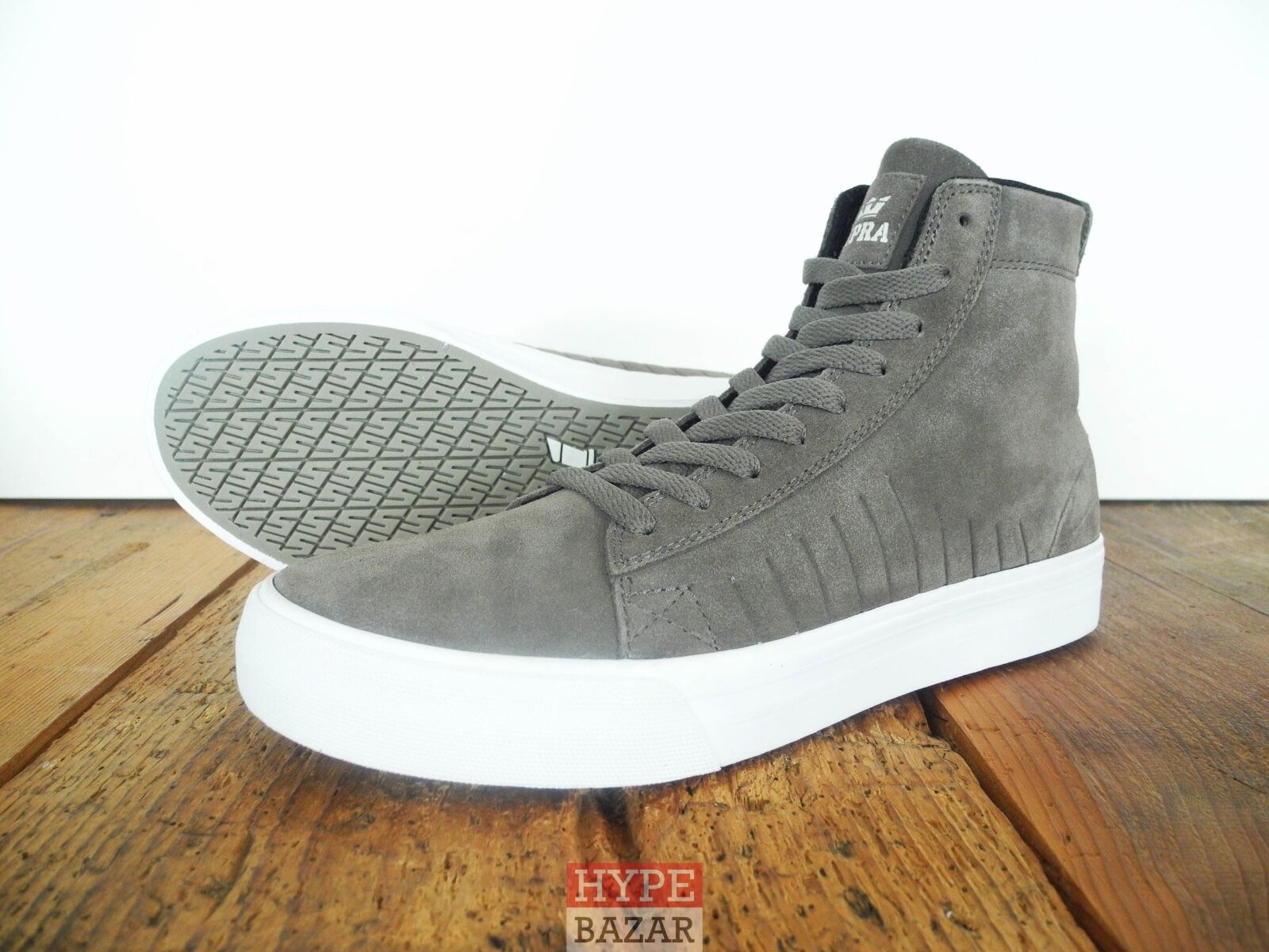 SUPRA FOOTWEAR HI-TOP SNEAKER NEU GREY GR: US SHOES 9 EUR 42.5 SUPRA SHOES US 828f1f