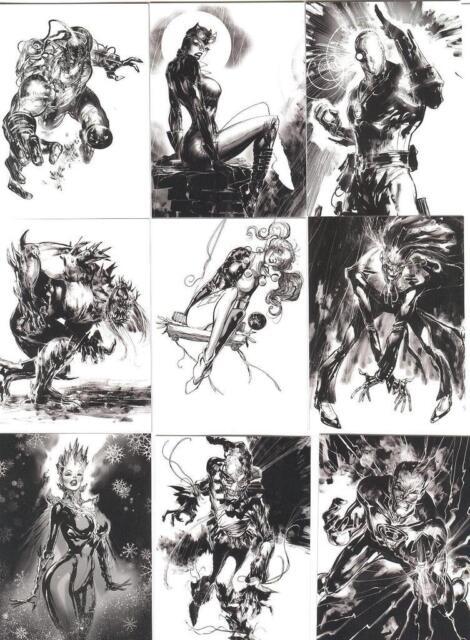 2015 Cryptozoic DC Comics Super-Villains Noir Card Set Of 9 Cards Catwoman RARE!