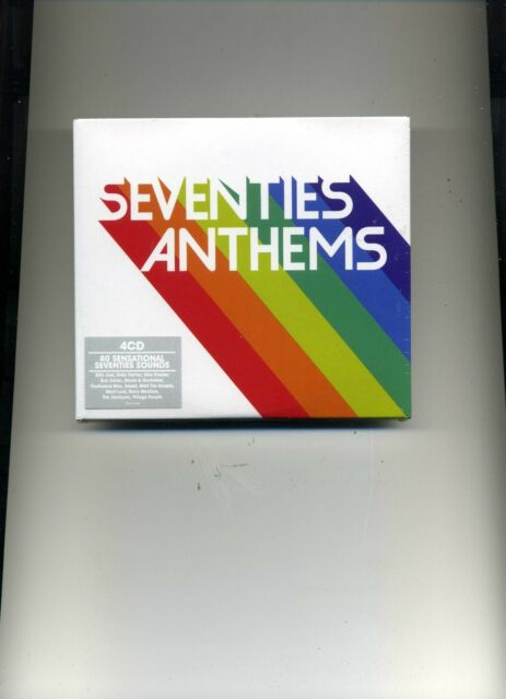 SEVENTIES ANTHEMS - SMOKIE SAILOR LULU DAVID SOUL DANA BONEY M - 4 CDS - NEW!!