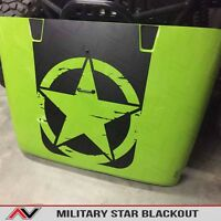 Hood Blackout Distressed Freedom Star Decal Matte W/install Kit Jeep Wrangler Jk
