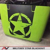 Hood Blackout Distressed Freedom Star Decal Matte W/install Kit Jeep Wrangler Jk