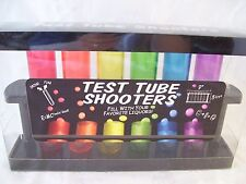 Test Tube Shooters Rack with 6 Colored Acetate Shooters MIB Drink Bar Party Fun!