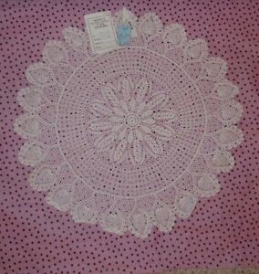 Peking Handicrafts Inc 100 Cotton White Doily From
