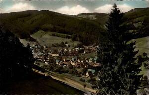 Schenkenzell-Schwarzwald-Postkarte-1962-gelaufen-Teilansicht-mit-Umgebung-Wald