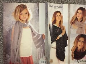 Details about Stylecraft Eskimo Kisses DK Knitting Pattern 9056 Ladies  Shawl Scarf 2212 M2