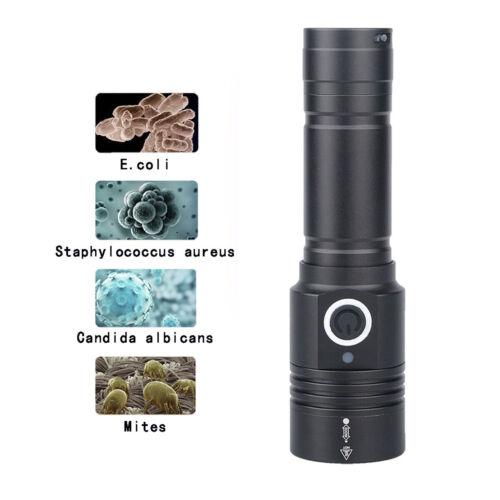 395NM LED UV Ultra Violet Blacklight Flashlight Torch Inspection Light Pet Zoom