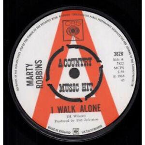 MARTY-ROBBINS-I-Walk-Alone-7-034-VINYL-UK-Cbs-Promo-B-W-Lily-Of-The-Valley-3828