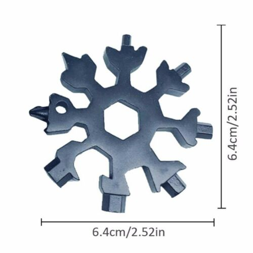 Snowflake Multi Tool 18-In-1 Steel Shape Flat Cross Household Hand Tool UK AF6