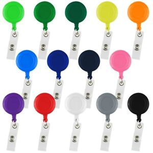 10Pcs New Retractable Reel ID Badge Key Card Name Tag Holders with Belt Clip BLK